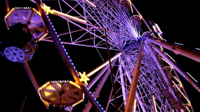 ferris wheel - agricultural fair stock videos & royalty-free footage