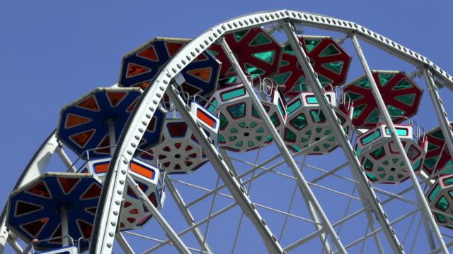 ferris wheel - amusement park stock videos & royalty-free footage