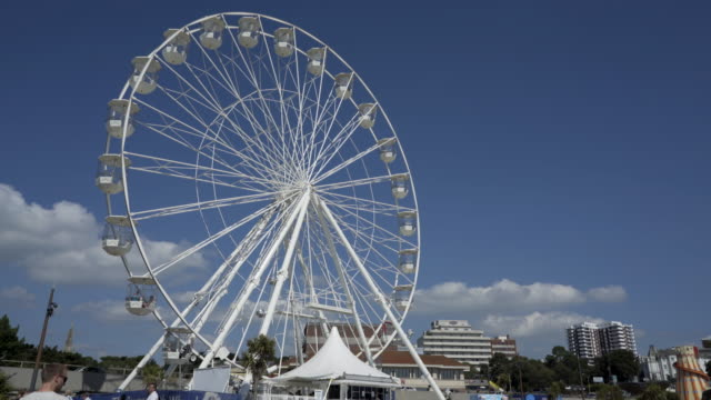 a ferris wheel. - bournemouth england stock videos & royalty-free footage