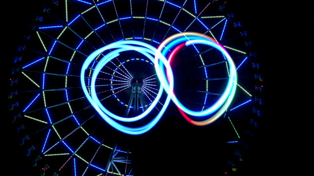 Ferris wheel with light show