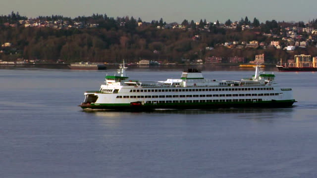 ferry 01 - puget sound stock videos & royalty-free footage