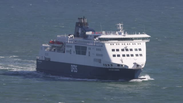 A ferry arrives at Dover Ferry Terminal from Calais on April 4 2019 in Dover England It has been reported the Theresa May has written to the EU...
