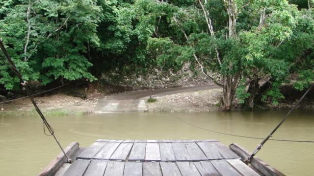 Ferry Boat Across the Mopan River, Belize