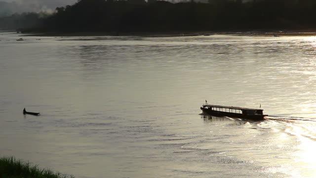 ferry boat in mekong river