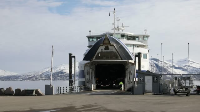 ferry boat in norway - northern europe stock videos & royalty-free footage
