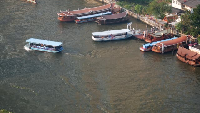 ferry boat in the chao phraya river - river chao phraya stock videos & royalty-free footage
