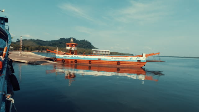 ferry boat journey ko lanta hua hin andaman sea thailand - ross sea stock videos & royalty-free footage