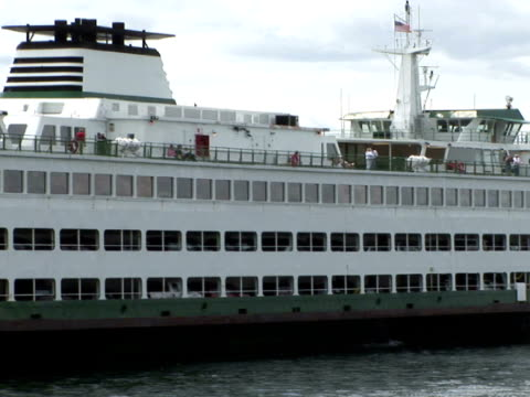 ms, ferry boat on puget sound, seattle, washington state, usa - puget sound stock videos & royalty-free footage