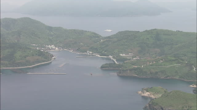 ferry boat to oki islands - shimane prefecture stock videos & royalty-free footage