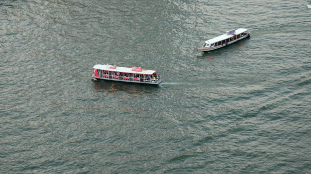 ferry boat - river chao phraya stock videos & royalty-free footage