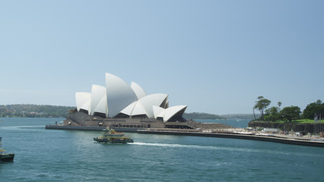 Ferry Boats passing the Sydney Opera House, Sydney, New South Wales, Australia