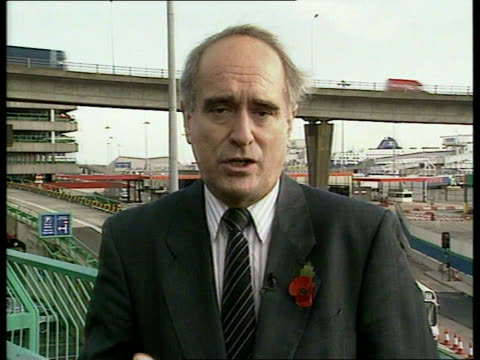 stockvideo's en b-roll-footage met enao england kent dover cms dr brian mawhinney mp intvwd sot we want the operators' maintenance to be better than ever / we don't know what happened... - ferry