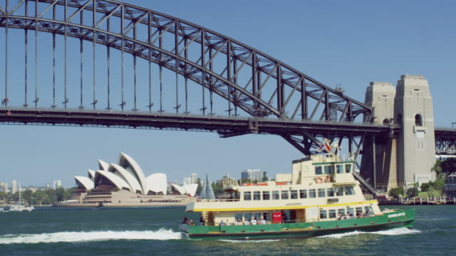 MS A ferry crosses Sydney Harbour / Sydney, Australia