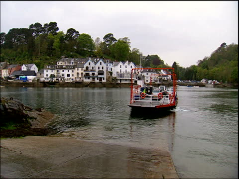 ferry crossing river fowey cornwall - nightdress stock videos & royalty-free footage