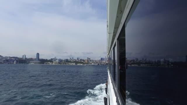 vídeos de stock e filmes b-roll de ferry in istanbul bosphorus - ferry
