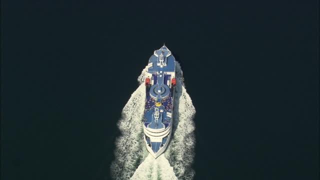 ha ws ferry in sea, fehmarn, schlewig-holstein, germany - ostsee stock-videos und b-roll-filmmaterial