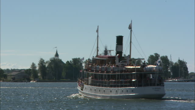 ferry in the water, helsinki, finland - harbor stock videos & royalty-free footage