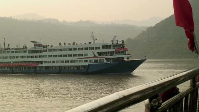 WS ZO Ferry In Yangtze River, Upriver of 3 Gorges Dam, China