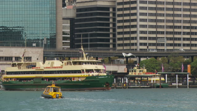 ms ferry leaving circular quay / sydney, new south wales, australia - ferry stock videos & royalty-free footage