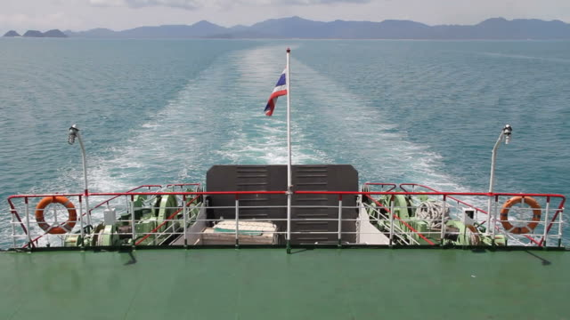 ferry leaving from koh phangan. - ferry stock videos & royalty-free footage