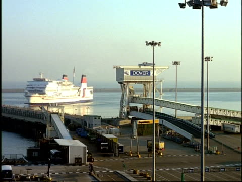 wa ferry moving around in ferry terminal, dover, england - dover england stock videos and b-roll footage