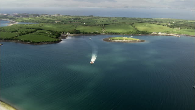Ferry On Bantry Bay  - Aerial View - Munster,  Cork,  helicopter filming,  aerial video,  cineflex,  establishing shot,  Ireland