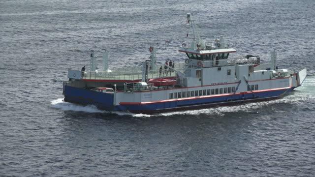 ferry on fjord near stavanger, rogaland, norway, scandinavia, europe - stavanger stock videos & royalty-free footage
