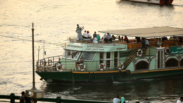 ms ferry on the nile river/ cairo/ egypt - cairo stock videos & royalty-free footage