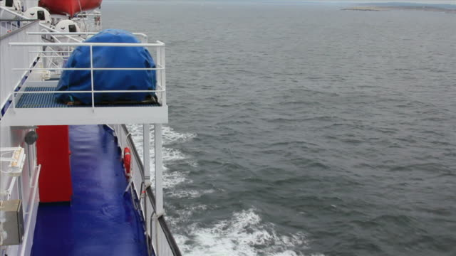 ferry on the open sea. - ferry stock videos & royalty-free footage