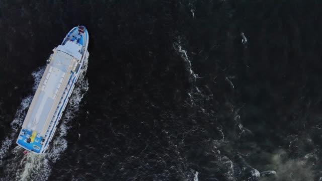 ferry on the sea, public transportation - izmir stock videos & royalty-free footage