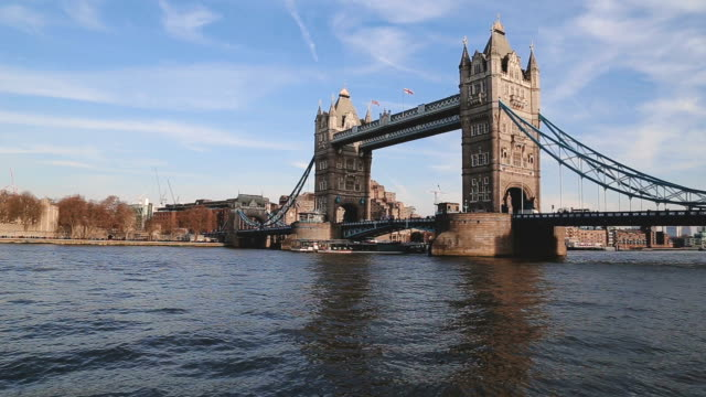 a ferry passing under tower bridge - 19th century stock videos & royalty-free footage
