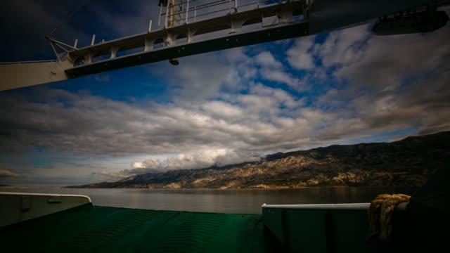 ferry ride in the adriatic sea, croatia - adriatic sea stock videos & royalty-free footage
