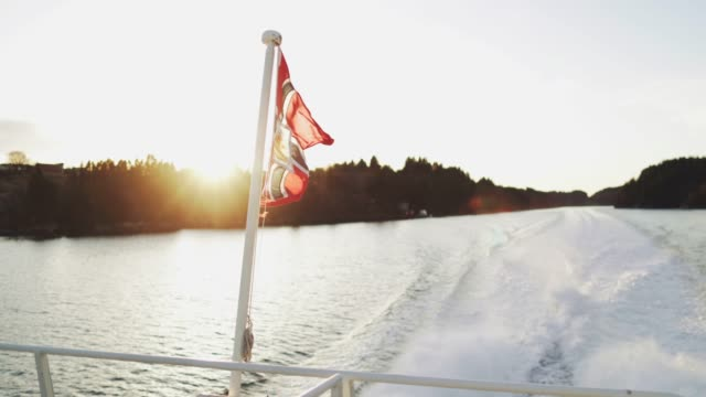 ferry speed boat sailing in a fjord - ferry stock videos & royalty-free footage