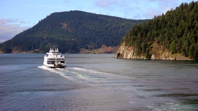 bc ferry - カナダ ビクトリア市点の映像素材/bロール