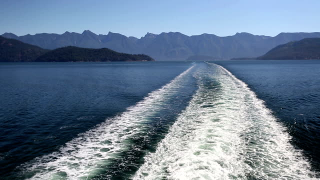 Ferry Wake Horseshoe Bay West Vancouver