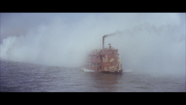 ms pov ferryboat moving in sea / hong kong - steam liner stock videos & royalty-free footage