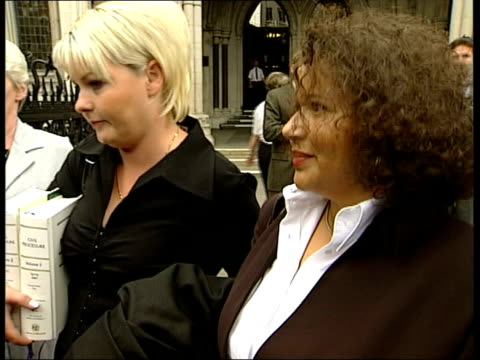 Women fight for right to use embyros ITN ENGLAND London The Strand Natalie Evans and Lorraine Hadley who are fighting to be allowed to have children...
