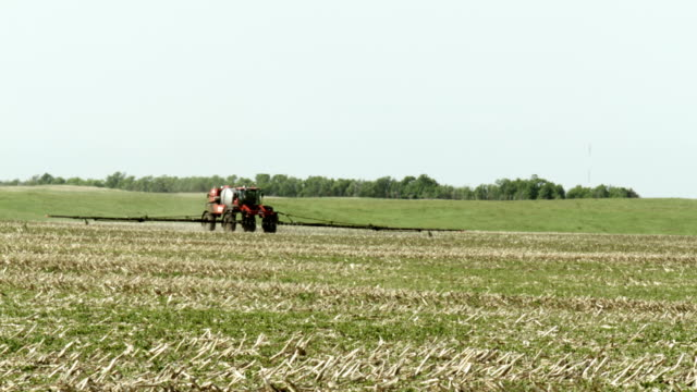 Fertilizer Sprayer Spraying Field