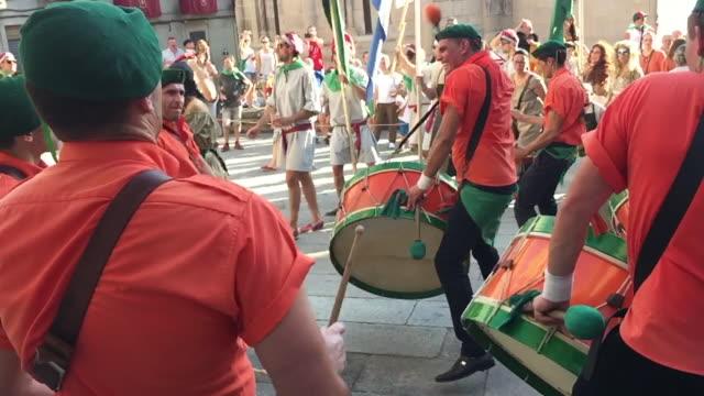 vídeos y material grabado en eventos de stock de festa do boi - galicia