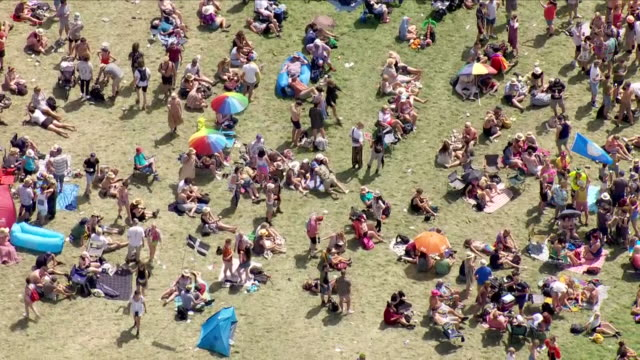 festival aerial shots - music festival stock videos & royalty-free footage