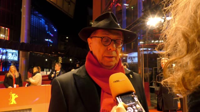 festival director dieter kosslick attends the hommage charlotte rampling honorary golden bear award ceremony during the 69th berlinale international... - charlotte rampling stock videos & royalty-free footage