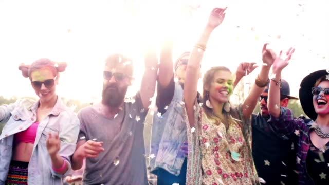 stockvideo's en b-roll-footage met festival/ krakow/ poland - festivalganger
