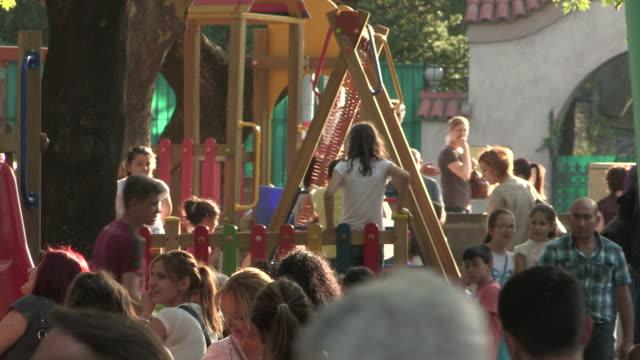 vidéos et rushes de festival playground, ankara, turkey - aire de jeux