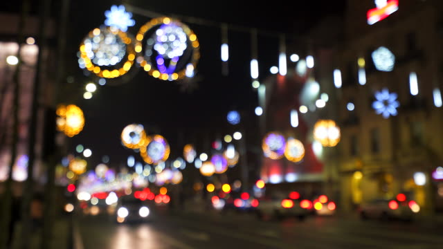 festive atmosphere in the city night. - unrecognisable person stock videos & royalty-free footage