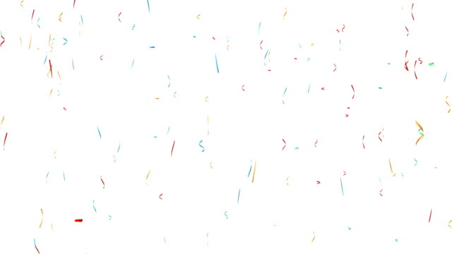 festive colorful confetti - ribbon sewing item stock videos & royalty-free footage