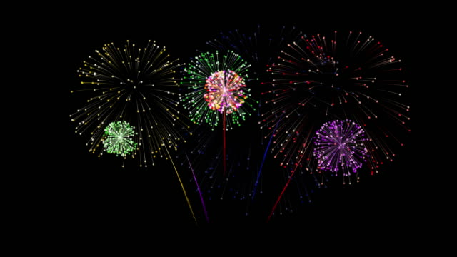 vídeos y material grabado en eventos de stock de fuegos artificiales festivos - fuego artificial