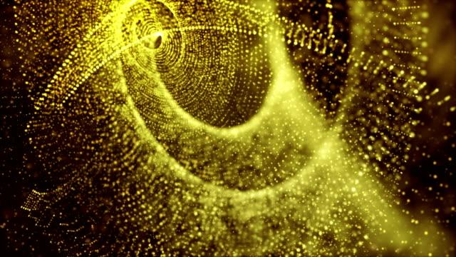 vídeos de stock, filmes e b-roll de vintage luzes festivas brilho abstraem base, brilhante e brilho de cor amarela e ouro pode usar para celebração, férias e fundo de natal com espaço de cópia - espaço e astronomia