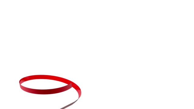 festive red ribbon - ribbon stock videos & royalty-free footage