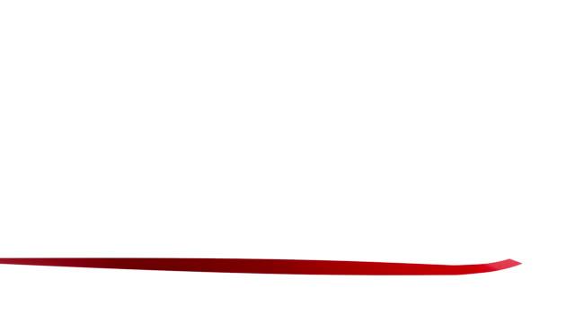 Festive red ribbon