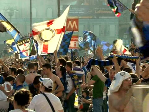 Festivities are under way in Milan as football fans get ready for Saturday's Champions League final against Bayern Munich For Inter Milan supporters...